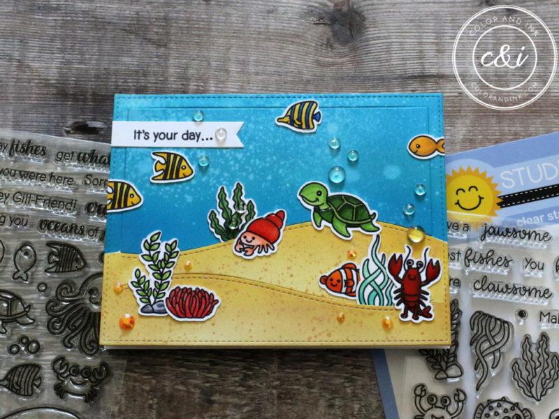 Sunny Studio's Ocean Card