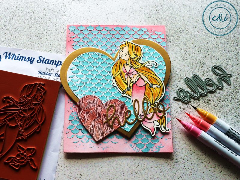 Whimsy Stamps Naia the Mermaid