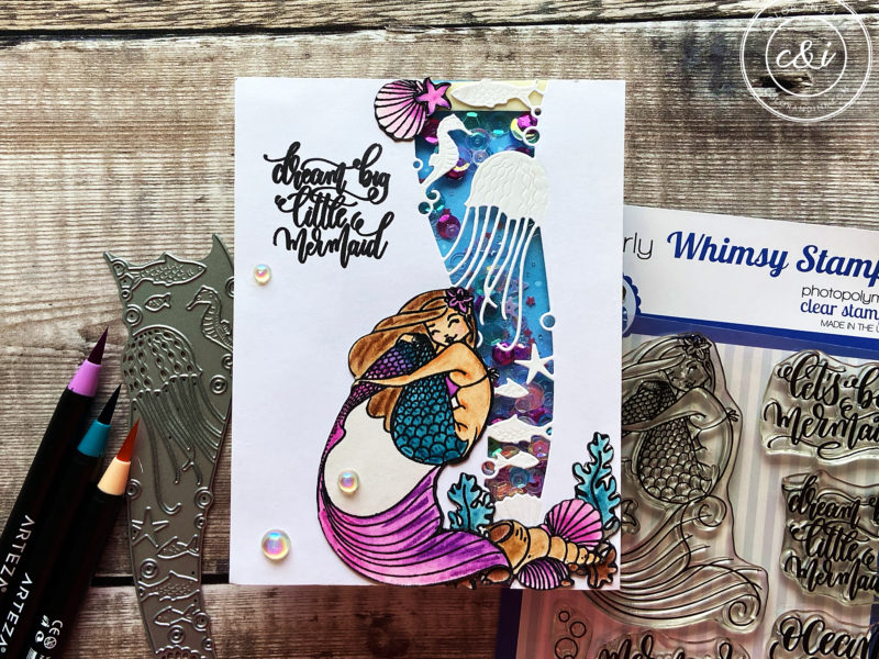 Whimsy Stamps' Let's Be Mermaids