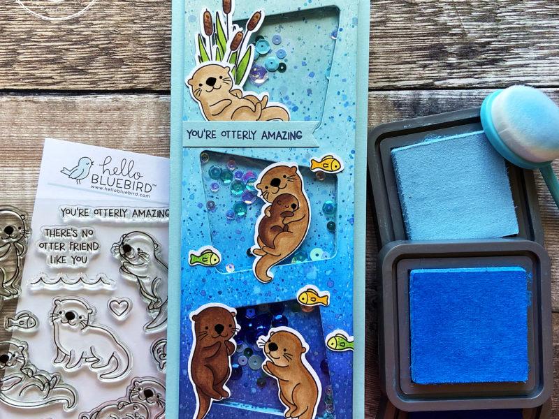 Hello Bluebird Otter Friends