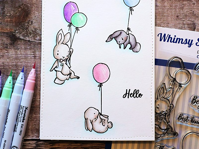 Whimsy Stamps Bunny Balloons 2