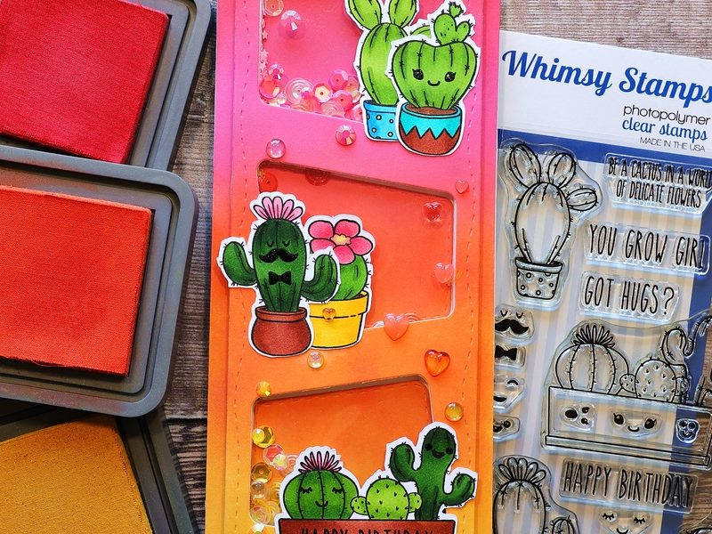 Whimsy Stamps Cute Cacti